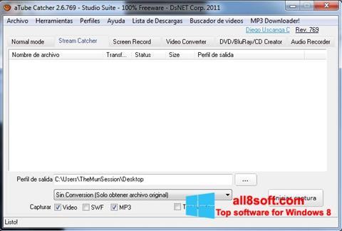 Capture d'écran aTube Catcher pour Windows 8