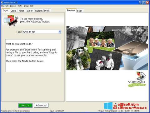 Capture d'écran VueScan pour Windows 8