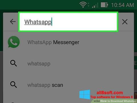 Capture d'écran WhatsApp pour Windows 8