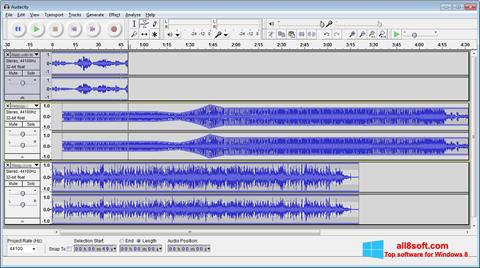 Capture d'écran Audacity pour Windows 8