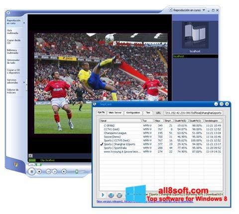 Capture d'écran SopCast pour Windows 8