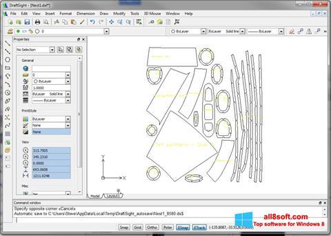 Capture d'écran DraftSight pour Windows 8
