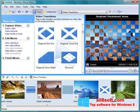 Capture d'écran Windows Movie Maker pour Windows 8