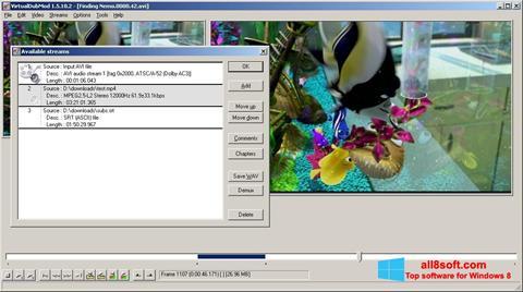 Capture d'écran VirtualDubMod pour Windows 8