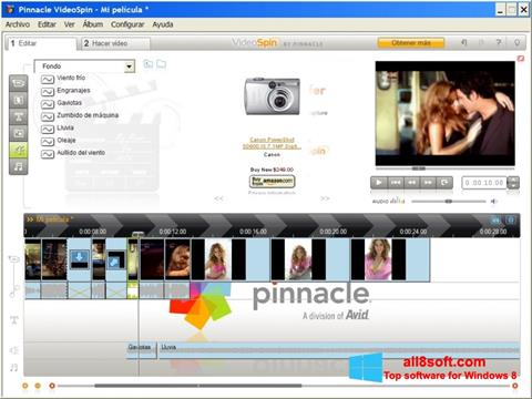 Capture d'écran Pinnacle VideoSpin pour Windows 8