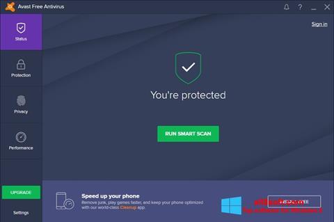 Capture d'écran Avast Free Antivirus pour Windows 8