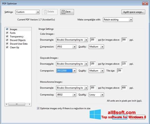 Capture d'écran Adobe Acrobat Pro DC pour Windows 8