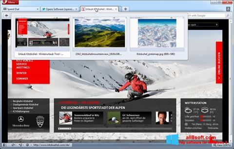 Capture d'écran Opera pour Windows 8