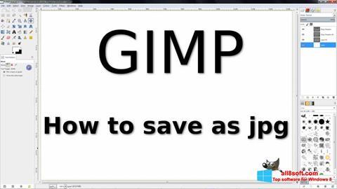 Capture d'écran GIMP pour Windows 8