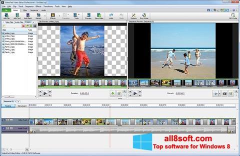 Capture d'écran VideoPad Video Editor pour Windows 8