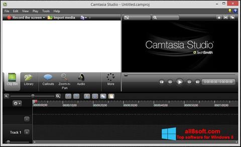 Capture d'écran Camtasia Studio pour Windows 8