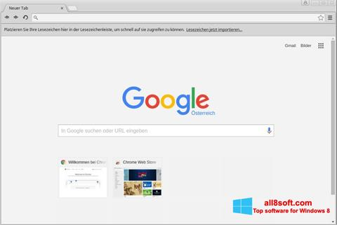 Capture d'écran Google Chrome pour Windows 8