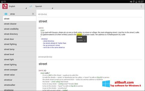 Capture d'écran ABBYY Lingvo pour Windows 8