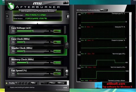 Capture d'écran MSI Afterburner pour Windows 8