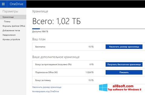 Capture d'écran OneDrive pour Windows 8
