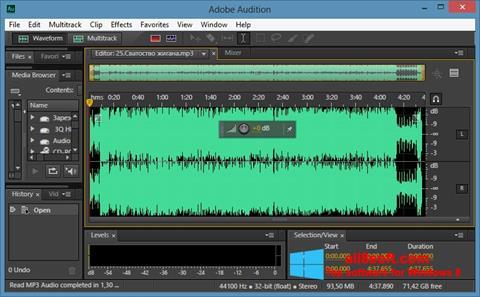Capture d'écran Adobe Audition CC pour Windows 8