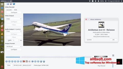 Capture d'écran Avidemux pour Windows 8